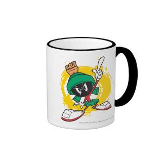 Marvin Pointing Upward Ringer Mug