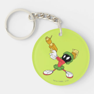 MARVIN THE MARTIAN™ Aiming Laser Double-Sided Round Acrylic Keychain
