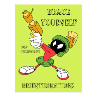 MARVIN THE MARTIAN™ Aiming Laser Postcard