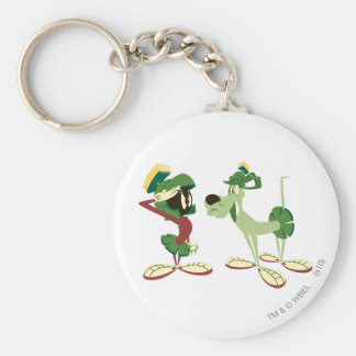 MARVIN THE MARTIAN™ and K-9 2 Basic Round Button Keychain