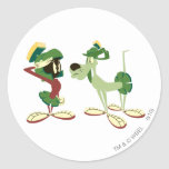 MARVIN THE MARTIAN™ and K-9 2 Classic Round Sticker