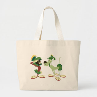 MARVIN THE MARTIAN™ and K-9 2 Large Tote Bag