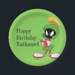 "MARVIN THE MARTIAN™ | Arms Crossed Paper Plate<br><div class=""desc"">This design features your favorite Looney Tunes Character,  MARVIN THE MARTIAN™.</div>"