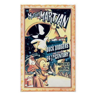 MARVIN THE MARTIAN™, DAFFY DUCK™ and Elmer Poster