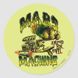 MARVIN THE MARTIAN™ Mars Machine Classic Round Sticker