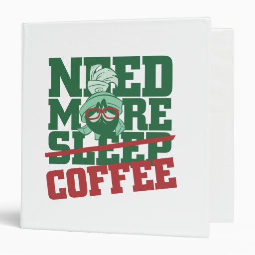MARVIN THE MARTIAN™ - Need More Coffee Vinyl Binder