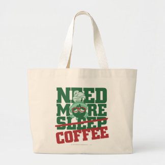 MARVIN THE MARTIAN™ - Need More Coffee Large Tote Bag