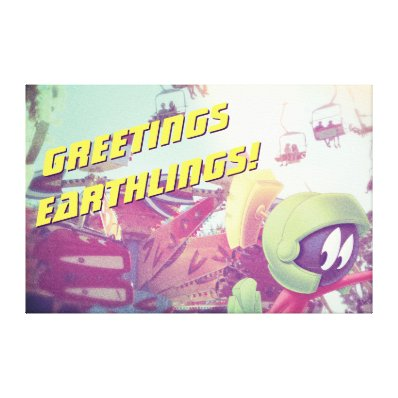 MARVIN THE MARTIAN? On Vacation Canvas Print