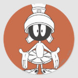 MARVIN THE MARTIAN™ Open Arms Classic Round Sticker