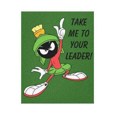 MARVIN THE MARTIAN? Proclamation Canvas Print