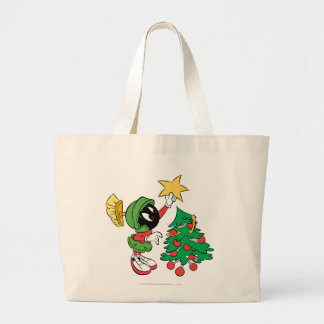 MARVIN THE MARTIAN™ putting star on tree Jumbo Tote Bag