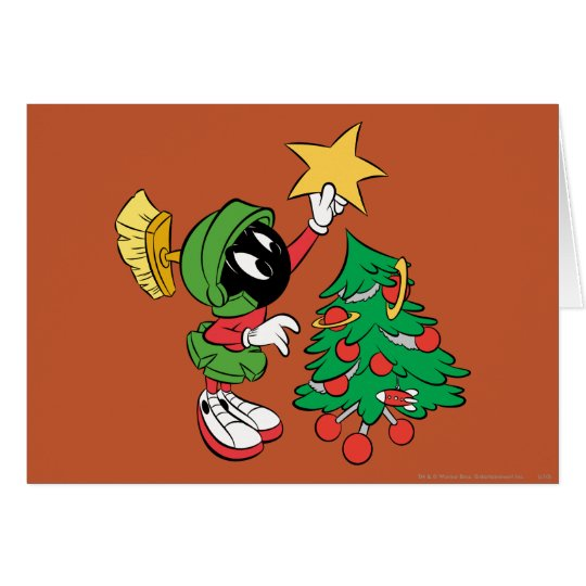 MARVIN THE MARTIAN™ putting star on tree Card