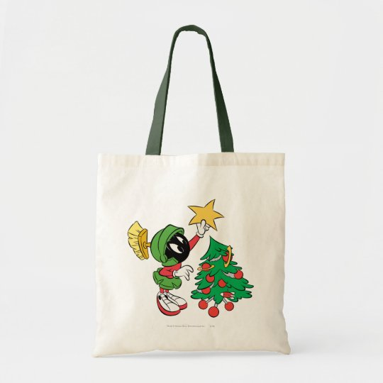 MARVIN THE MARTIAN™ putting star on tree Tote Bag