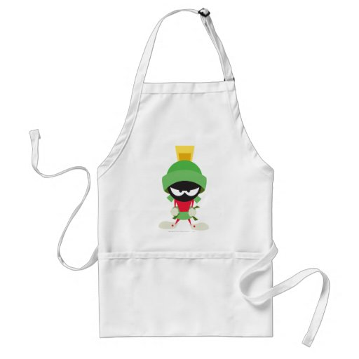 Marvin the Martian Ready to Attack Aprons