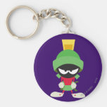 MARVIN THE MARTIAN™ Ready to Attack Basic Round Button Keychain
