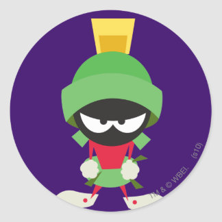 MARVIN THE MARTIAN™ Ready to Attack Classic Round Sticker