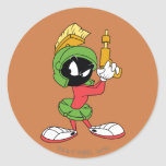 MARVIN THE MARTIAN™ Ready With Laser Classic Round Sticker