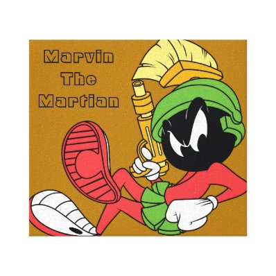 MARVIN THE MARTIAN? Reclining With Laser Canvas Print