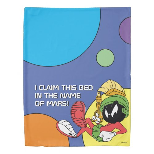 MARVIN THE MARTIAN™ Reclining With Laser Duvet Cover