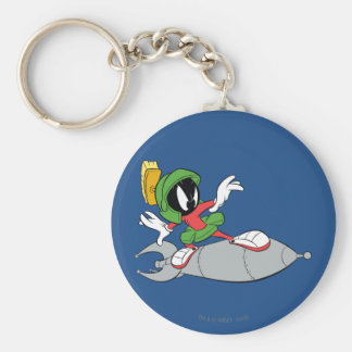 MARVIN THE MARTIAN™ Riding Rocket Basic Round Button Keychain