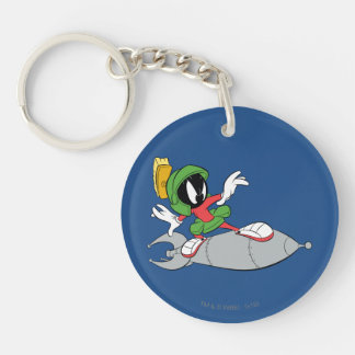 MARVIN THE MARTIAN™ Riding Rocket Double-Sided Round Acrylic Keychain