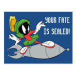 MARVIN THE MARTIAN™ Riding Rocket Postcard