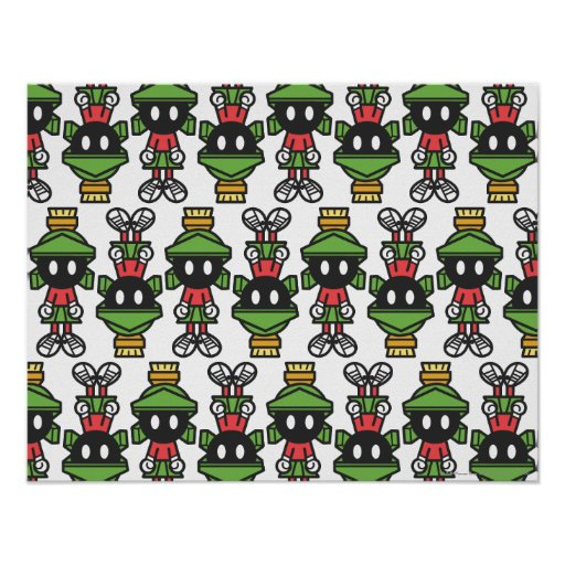 MARVIN THE MARTIAN™ Tiling Pattern Poster