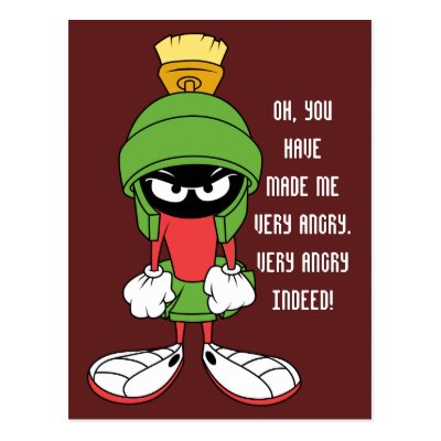 marvin the martian reclining with laser postcard zazzle com