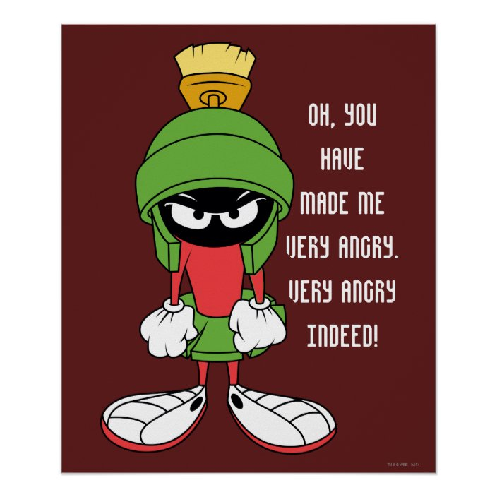 MARVIN THE MARTIAN™ Upset Poster | Zazzle.com