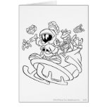 MARVIN THE MARTIAN™ with toys on space sled Cards