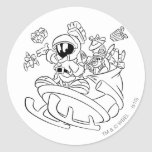 MARVIN THE MARTIAN™ with toys on space sled Sticker