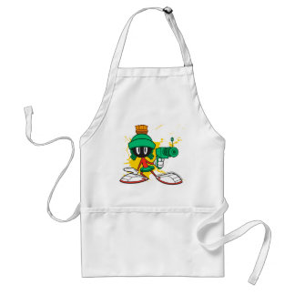 Marvin With Gun Adult Apron