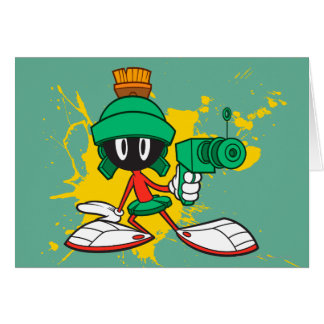 Marvin With Gun Card