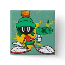 Marvin With Gun Pinback Button