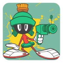 Marvin With Gun Square Sticker