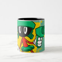 Marvin With Gun Two-Tone Coffee Mug