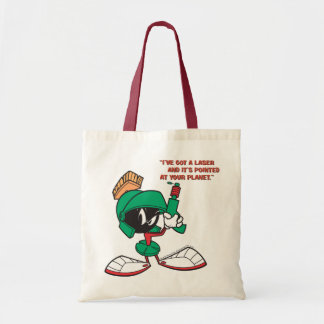 Marvin with Laser Pointed Up Canvas Bags
