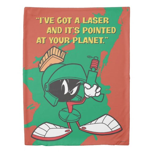 Marvin with Laser Pointed Up Duvet Cover