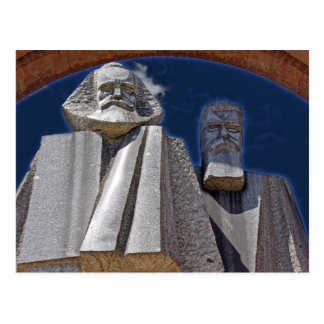Marx and Engels Postcard