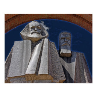 Marx and Engels Poster