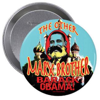 Marx Brother anti Obama Shirt Button
