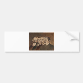 Marx, Engels, Lenin, and Stalin Bumper Sticker