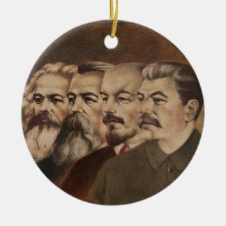 Marx, Engels, Lenin, and Stalin Ceramic Ornament