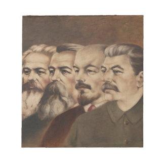 Marx, Engels, Lenin, and Stalin Notepad
