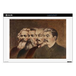"Marx, Engels, Lenin, and Stalin Skins For 17"" Laptops"