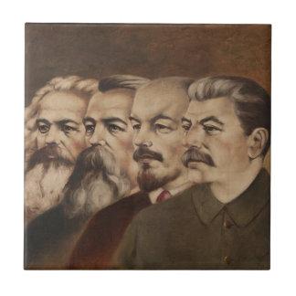 Marx, Engels, Lenin, and Stalin Tile