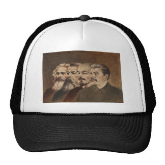Marx, Engels, Lenin, and Stalin Trucker Hat