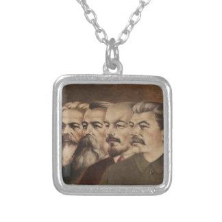 Marx, Engels, Lenin, y Stalin Colgante Cuadrado