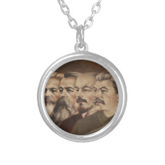 Marx, Engels, Lenin, y Stalin Collar Plateado