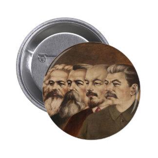 Marx, Engels, Lenin, y Stalin Pin Redondo De 2 Pulgadas